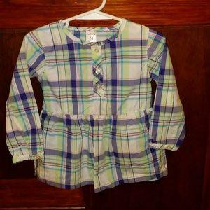 Carter's 24 Months Girls Peplum Long Sleeve Shirt